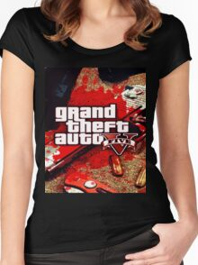 gta v Women's Fitted Scoop T-Shirt
