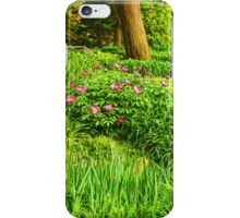 Impressions of Gardens - Lush Green and Blooming Peonies iPhone Case/Skin