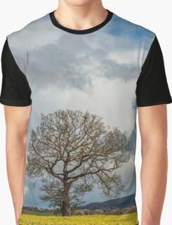 Oil Seed Rape Field and Oak Tree Graphic T-Shirt