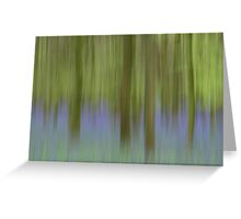 Bluebell Woods - Abstract  Greeting Card