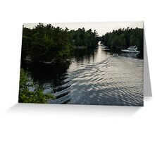 Silver Light and Ripples - Thousand Islands, Saint Lawrence River Greeting Card