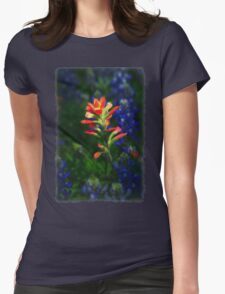 One Paintbrush Womens Fitted T-Shirt
