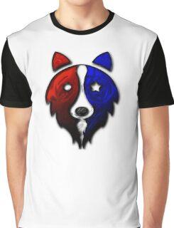 Liquid Star Spangled Collie Graphic T-Shirt