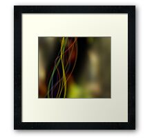 Fall Ribbons Framed Print