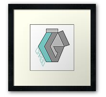 "CARGO Big Logo ""Cool Grey"" by Rilwan Kujenya Framed Print"