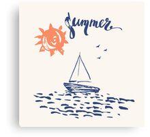 Sea boat Canvas Print
