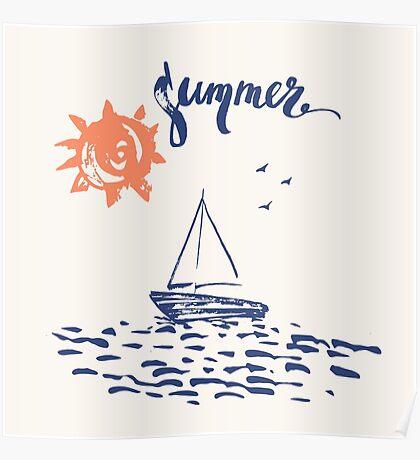 Sea boat Poster
