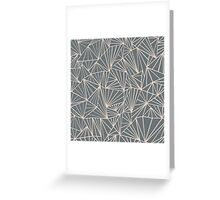 Ab Fan Grey And Nude Greeting Card