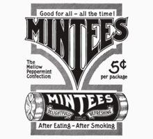 Mintees (Black) Kids Tee