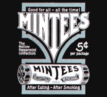Mintees (White - 3D) One Piece - Short Sleeve