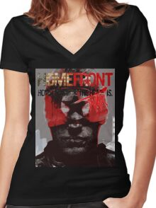 homefront Women's Fitted V-Neck T-Shirt