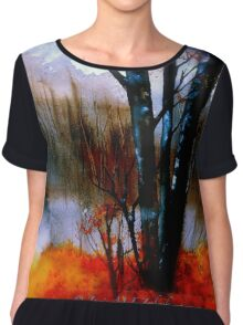 The Grove...Morning Mist Chiffon Top
