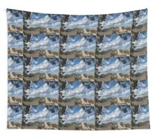 Mount Vesuvius Volcano, Framed in Ancient Pompeii Ruins and Italian Cypress Trees Wall Tapestry