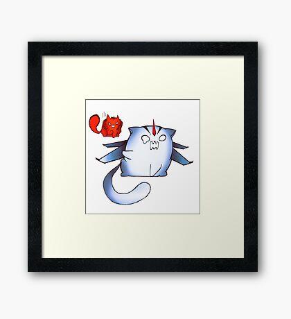 TFP Starscream and Knockout dumpling cats  Framed Print