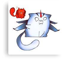 TFP Starscream and Knockout dumpling cats  Canvas Print
