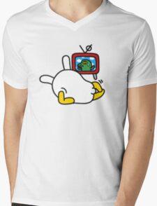 KakaoTalk Friends Tube (Muzi & Con) Chillin' Mens V-Neck T-Shirt