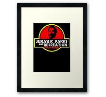 Jurassic Parks and Recreation Framed Print