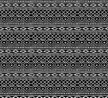 Black and White African Tribal Pattern  by ArtVixen