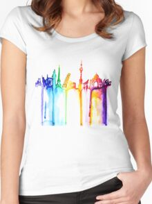 rainbow world Women's Fitted Scoop T-Shirt