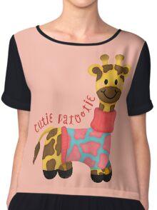 Cutie Patootie Giraffe Chiffon Top