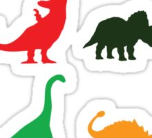 Colourful Dinosaurs Pattern Sticker