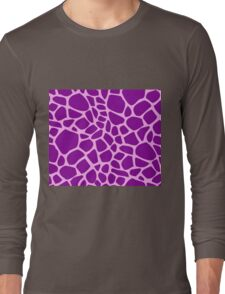 Giraffe pattern (pink and purple) Long Sleeve T-Shirt