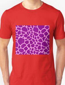 Giraffe pattern (pink and purple) Unisex T-Shirt