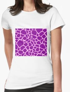Giraffe pattern (pink and purple) Womens Fitted T-Shirt