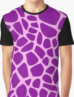 Giraffe pattern (pink and purple) Graphic T-Shirt