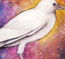 White Crow Wanderer Sticker