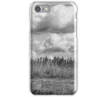 Clouds over field iPhone Case/Skin