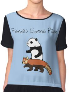 Pandas and Red Pandas Gonna Pand Chiffon Top