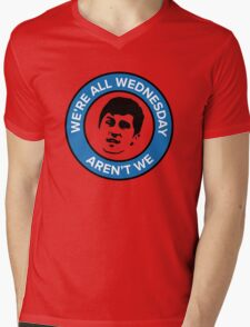 We're all Wednesday Aren't We Mens V-Neck T-Shirt