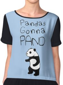 Pandas Gonna Pand Chiffon Top