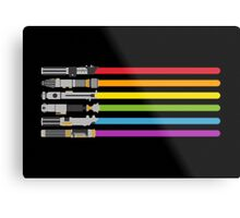 Lightsaber Rainbow Metal Print