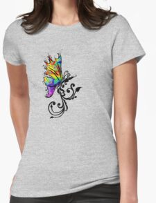 Butterfly Swirl Womens Fitted T-Shirt