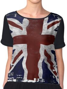 Patriotic Union Jack UK Union Flag Chiffon Top