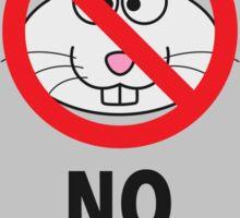 No Rabbit People Sticker