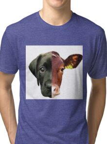 Animal Equality- dog and cow (sorry for the bad quality) Tri-blend T-Shirt