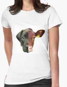 Animal Equality- dog and cow (sorry for the bad quality) Womens Fitted T-Shirt