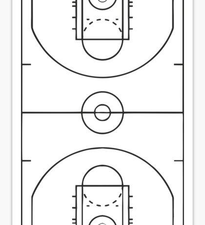Basketball Court Sticker