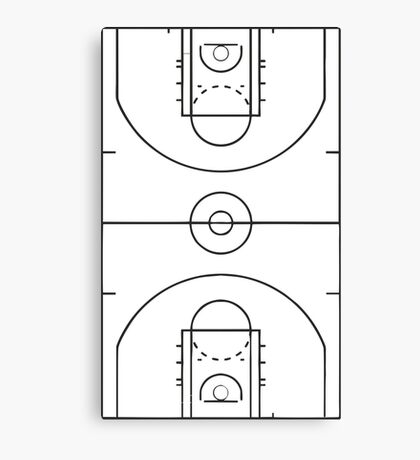 Basketball Court Canvas Print