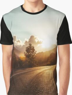Road at sunset Graphic T-Shirt