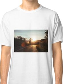 Road at sunset Classic T-Shirt