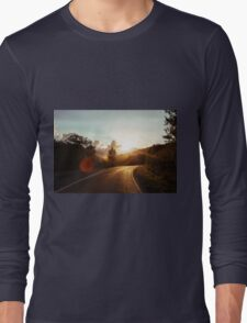 Road at sunset Long Sleeve T-Shirt