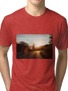 Road at sunset Tri-blend T-Shirt
