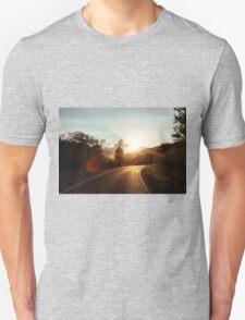 Road at sunset Unisex T-Shirt