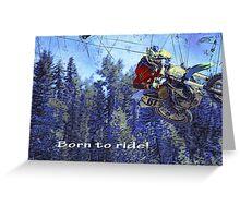 Motocross Dirt-Bike Championship Race Greeting Card