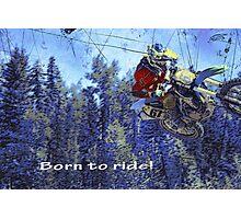 Motocross Dirt-Bike Championship Race Photographic Print