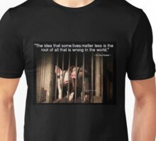 Speciesism - Pigs in a Cage Unisex T-Shirt